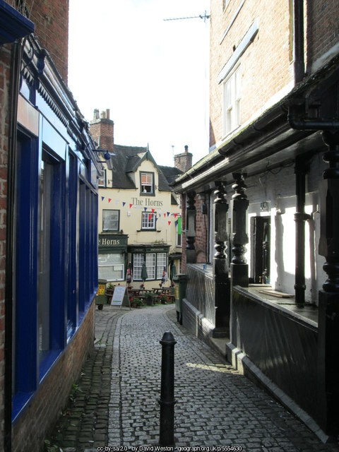 A characterful alley leading away from Ashbourne Marketplace.